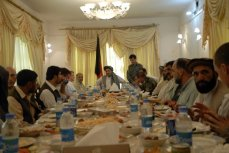 A visit from an American and British delegation from Kabul. Qalat, Zabul Province, Southeastern Afghanistan, Summer 2009.